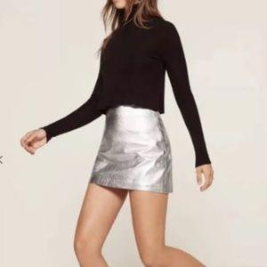 Metallic silver Reformation skirt